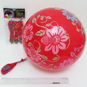 0102 Шары воздушные 32см 2,8г Цветочки 5шт, LED (20/500)