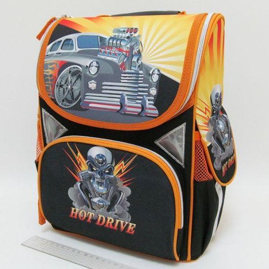 JO-1607 Рюкзак коробка Машина 13,5'' 3 отд., ортоп., светоотраж. (1)