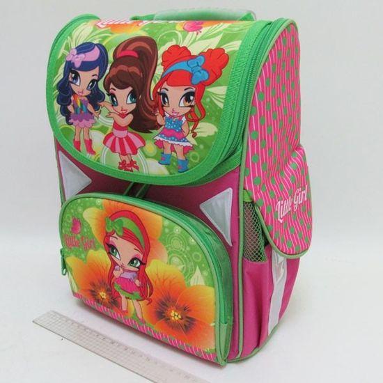 JO-1711 Рюкзак коробка Little girls 13,5'' 3 отд., ортоп., светоотраж. (1)