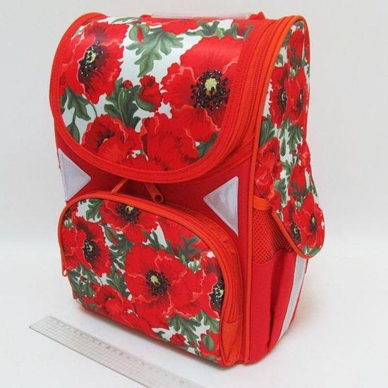 JO-1713 Рюкзак коробка Маки 13,5'' 3 отд., ортоп., светоотраж. (1)