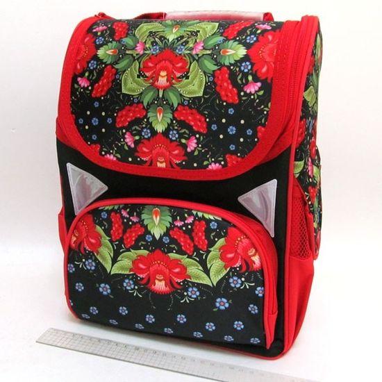 JO-1715 Рюкзак коробка Цветы 13,5'' 3 отд., ортоп., светоотраж. (1)