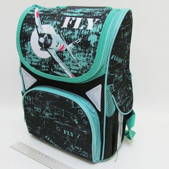 JO-1717 Рюкзак коробка Fly 13,5'' 3 отд., ортоп., светоотраж. (1)