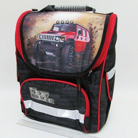 JO-1801 Рюкзак коробка Crazy Car 3 отд.,ортоп.,светоотраж., 39х29х16см (IMG_0459) (1)