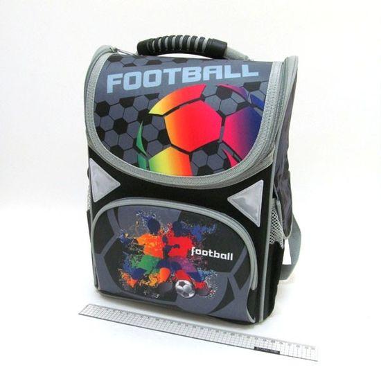 JO-1803 Рюкзак коробка Football 13,5'' 34*26*14,5см, 3 отд., ортоп., светоотраж. (1)