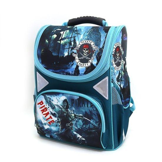JO-1804 Рюкзак коробка Pirate 13,5'' 34*26*14,5см, 3 отд., ортоп., светоотраж. (1)