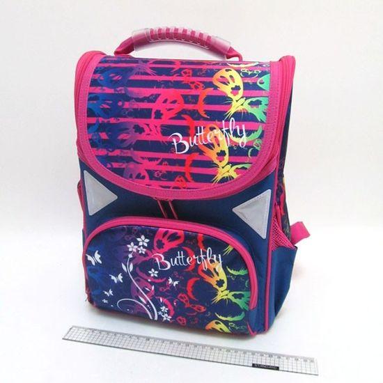JO-1808 Рюкзак коробка Butterfly 13,5'' 34*26*14,5см, 3 отд., ортоп., светоотраж. (1)