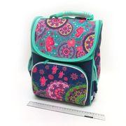 SM-1820 Рюкзак коробка Узоры 34*26*14,5см, 3 отд., ортоп., светоотраж. (1)