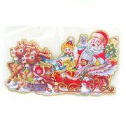 7042-2 (DSCN9822) Плакат Дед Мороз в упряжке 45см, укр.надпись (10)