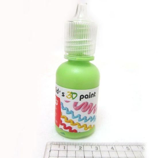 OL1230-OL027 Краска 3D 30ml светло-зеленая (12/288)