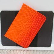 P-7225-22 Обложка для паспорта Змея оранж. (10/400)