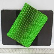 P-7225-23 Обложка для паспорта Змея зелен. (10/400)