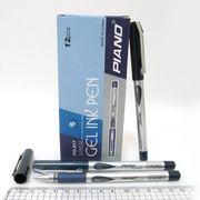 Ручка гелева синя 0.5 мм з гумовим тримачем Piano PG-817