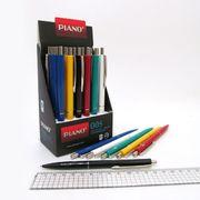 Ручка масляна автоматична синя 0.7 мм мікс  Piano 005