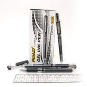 Ручка гелева чорна 0.7 мм з гумовим тримачем Piano PT-117