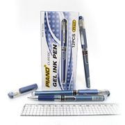 Ручка гелева синя 0.7 мм з гумовим тримачем Piano PT-117