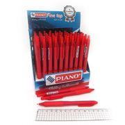 Ручка масляна автоматична червона 0.7мм  Piano PT-301