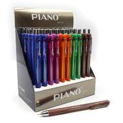 Ручка масляна автоматична синя 0.7 мм з гумовим тримачем Piano PT-321