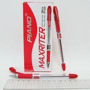 Ручка масляна червона 0.7 мм з гумовим тримачем Maxriter Piano PT-335