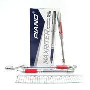 Ручка масляна червона 0.5 мм з гумовим тримачем Maxriter Piano PT-338