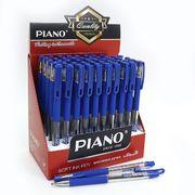 Ручка масляна синя 0.5 мм з гумовим тримачем Piano PT-350
