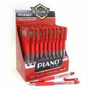 Ручка масляна червона 0.5 мм з гумовим тримачем Piano PT-350
