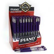 Ручка масляна фіолетова 0.5 мм з гумовим тримачем Piano PT-350
