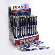 Ручка кулькова синя 0.5 мм з гумовим тримачем Piano PT-500