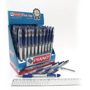 Ручка масляна синя 0.5 мм з гумовим тримачем Sagacios Piano PT-501