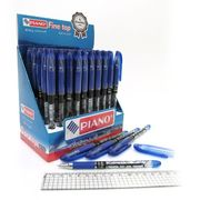 Ручка масляна синя 0.5 мм з гумовим тримачем Flawless Piano PT-503