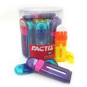 Гумка для олівця у пластиковому футлярі висувна 10.5х9.5 см асорті Zip TM FACTIS PTF1030 (90/30/360)