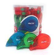 Гумка-рулетка в яскравому пластиковому чохлі , 10.5х9.5 см асорті кольорів SNAILТМ FACTIS PTF1230 (30/360)