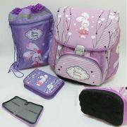 PREMIUM-A Набор: рюкзак-коробка+мешок для обуви+пенал плоский Зайчик (1002876) (1)