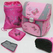 PREMIUM-B Набор: рюкзак-коробка+мешок для обуви+пенал плоский Butterfly (1002886) (4)