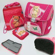 PREMIUM-C Набор: рюкзак-коробка+мешок для обуви+пенал плоский Мишка (1002887) (4)