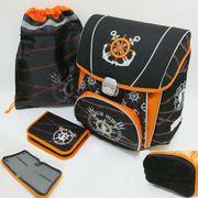 PREMIUM-D Набор: рюкзак-коробка+мешок для обуви+пенал плоский Морской (1002888) (4)