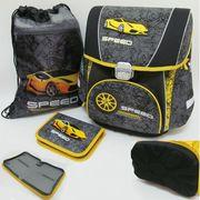 PREMIUM-E Набор: рюкзак-коробка+мешок для обуви+пенал плоский Speed (1002889) (4)