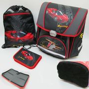 PREMIUM-F Набор: рюкзак-коробка+мешок для обуви+пенал плоский Racing (1002890) (1)