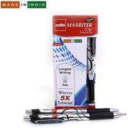 Ручка масляна автоматична чорна 0.7 мм з гумовим тримачем Maxriter Clic Cello Original