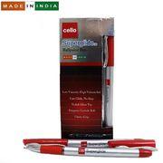 Ручка масляна червона 1.0 мм з гумовим тримачем Superglide Cello Original