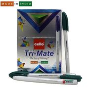 Ручка кулькова зелена 1.0 мм Tri-mate Cello Original