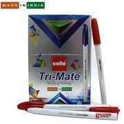 Ручка кулькова червона 1.0 мм Tri-mate Cello Original
