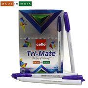 Ручка кулькова фіолетова 1.0 мм Tri-mate Cello Original