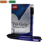 Ручка кулькова синя 1.0 мм з гумовим тримачем Trigrip Blue Cello Original