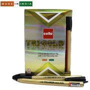 Ручка кулькова чорна 1.0 мм Tri-mate Gold Cello Original