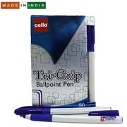 Ручка кулькова синя 1.0 мм Trigrip Cello Original