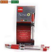 Ручка кулькова червона 1.0 мм з гумовим тримачем Velvet O Cello Original