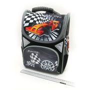 SM-1814 Рюкзак коробка Racing car 34*26*14,5см, 3 отд., ортоп., светоотраж. (6)