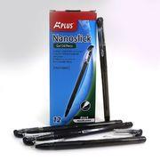 Ручка масляна чорна 0.7 мм  з гумовим тримачем Beifa TA317600