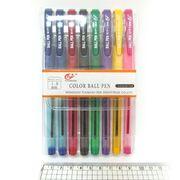 Набір кулькових ручок 1.0 мм  з гумовим тримачем 8 кольорів Tianjiao TY501P-8