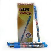 Ручка масляна синя 0.7 мм з гумовим тримачем Walto Wiser